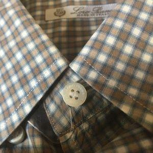 Loro Piana MEN's Plaid Button Down Dress Shirt